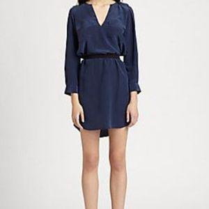 Joie Marlola Silk Shirt Dress Navy